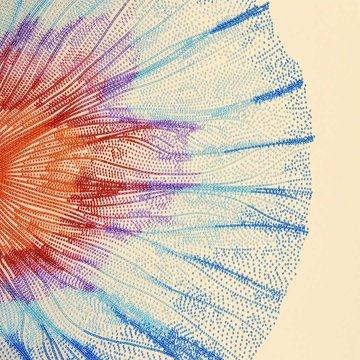 Miniart Crafts Abstract Flower 40 x 40 cm borduren met kralen