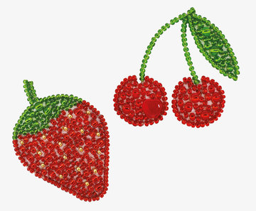 Miniart Crafts - Strawberry Cherry - borduren met kralen