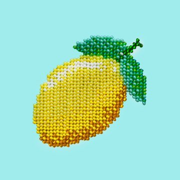 Miniart Crafts Lemon 12 x 12 cm borduren met kralen