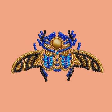 Miniart Crafts Scarabaeus 12 x 12 cm borduren met kralen