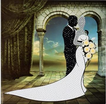 Crystal Card kit diamond painting Wedding Couple 18 x 18 cm