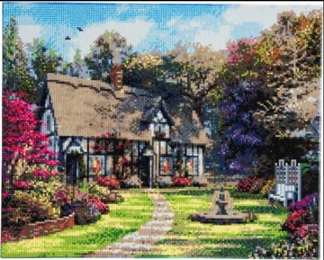 Crystal Art kit Country Cottage 40 x 50 cm full diamond painting
