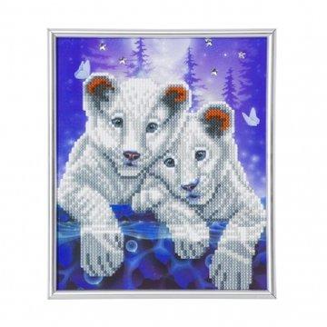 Crystal Art kit Tiger Cups Partial 21 x 25 cm