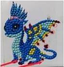 Crystal Art Sticker Friendly Dragon 9 x 9 cm.