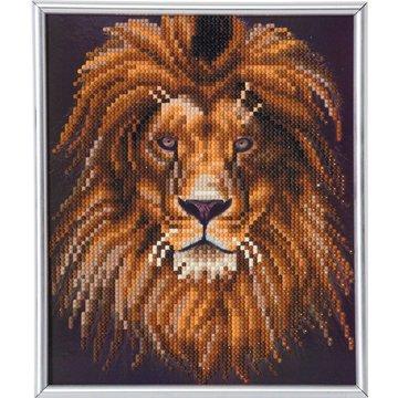 Crystal Art kit Lion Partial 21 x 25 cm