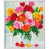 Crystal Art kit Flowers Partial 21 x 25 cm