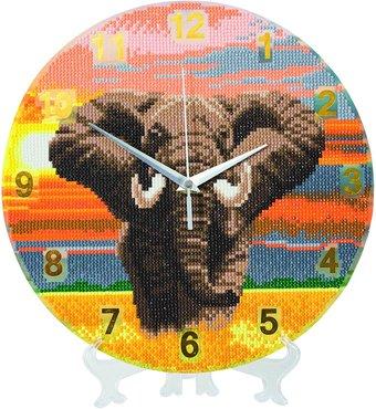 Crystal Art Clock kit Elephant klok (partial) 30 cm