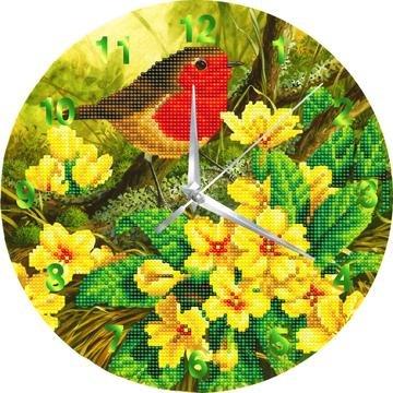Crystal Art Clock kit Robin klok (partial) 30 cm