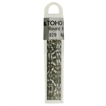 TOHO GLASKRALEN ROND 8-0 TH8-0029 ZILVER