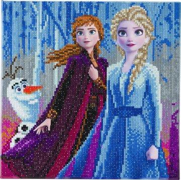 Crystal Art kit Disney Elsa, Anna en Olaf (partial) 30 x 30 cm