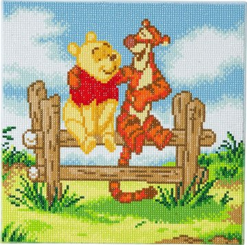 Crystal Art kit Disney Pooh and Tigger (full) 30 x 30 cm