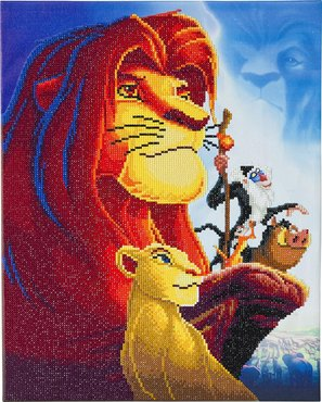 Crystal Art kit Disney The Lion King Medley (partial) 40 x 50 cm
