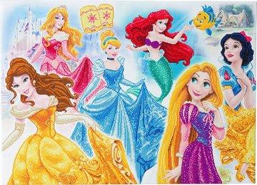 Crystal Art kit Disney Princess Medley (partial) 90 x 65 cm