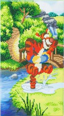 Crystal Art kit Disney Bouncing Tigger (partial) 40 x 22 cm
