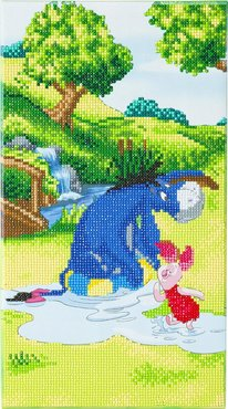 Crystal Art kit Disney Eyore and Piglet (partial) 40 x 22 cm