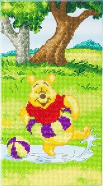 Crystal Art kit Disney Winnie Splashing (partial) 40 x 22 cm