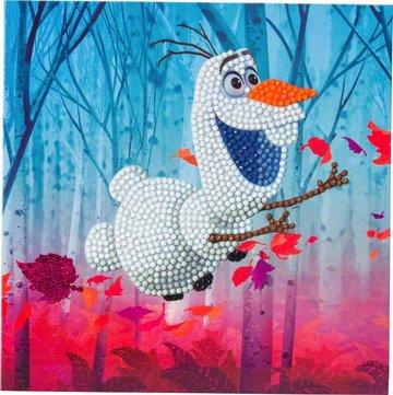 Crystal Card kit Disney Floating Olaf diamond painting  18 x 18 cm