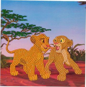 Crystal Card kit  Disney Simba and Nala diamond painting  18 x 18 cm