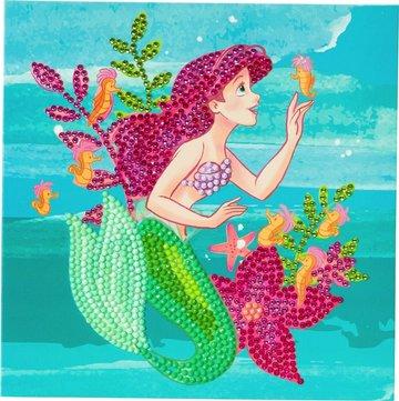 Crystal Card kit  Disney Ariel Little Mermaid diamond painting  18 x 18 cm
