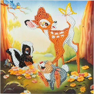 Crystal Card kit  Disney Bambi and Friends diamond painting  18 x 18 cm