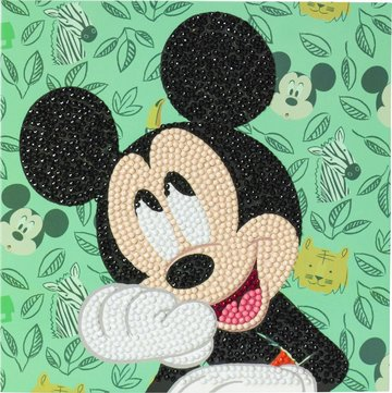 Crystal Card kit  Disney Happy Mickey diamond painting  18 x 18 cm