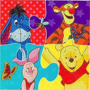 Crystal Card kit  Disney Winnie the Pooh Puzzle diamond painting  18 x 18 cm