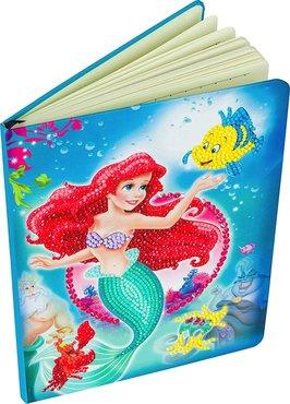 Crystal Art kit Notebook schrift Disney The Little Mermaid 26 x 19 cm