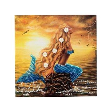 Crystal Card kit diamond painting Mermaid Dreams 18 x 18 cm