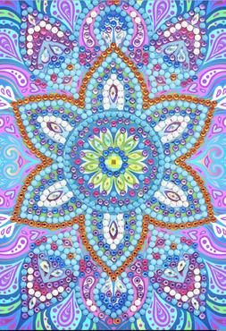 Crystal Card kit diamond painting Blue Mandala 10 x 15 cm