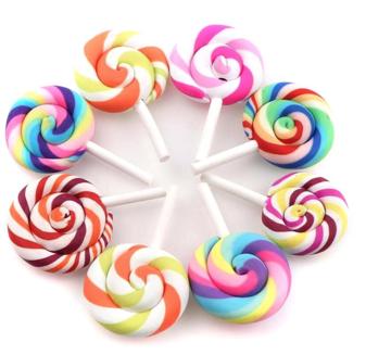 Lolly voor poppen polymeerklei multicolor 45mm