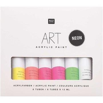 ART ACRYLIC SET NEON 6 X 12ML