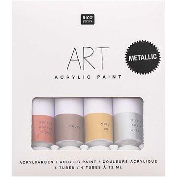 ART ACRYLIC SET CELEBRATION METALLIC 4 X 12ML ACRYLVERF