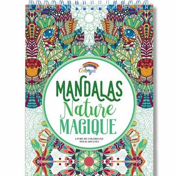 Colorya kleurboek v. volwassenen Mandala's Magische Natuur A4 spiraalgebonden