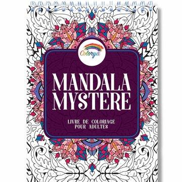 Colorya kleurboek v. volwassenen Mysterie Mandala by number A4 spiraalgebonden
