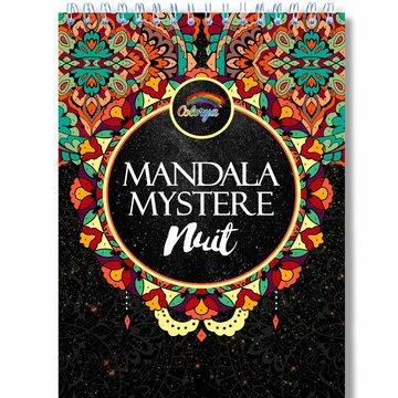 Colorya kleurboek v. volwassenen Mysterie Mandala Nachteditie by number A4 spiraalgebonden