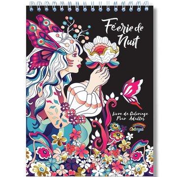 Colorya kleurboek v. volwassenen Magische Sprookjeswereld Bij Nacht A4 spiraalgebonden