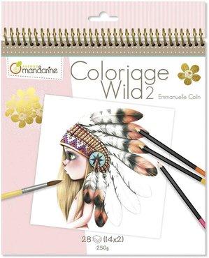 Coloriage Wild Colouring Book deel 2 by Emmanuelle Colin spiraal gebonden