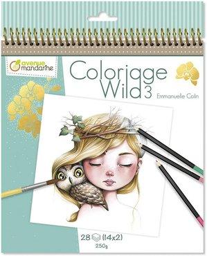 Coloriage Wild Colouring Book deel 3 by Emmanuelle Colin spiraal gebonden