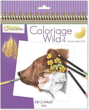Coloriage Wild Colouring Book deel 4 by Emmanuelle Colin spiraal gebonden