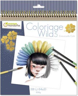 Coloriage Wild Colouring Book deel 5 by Emmanuelle Colin spiraal gebonden