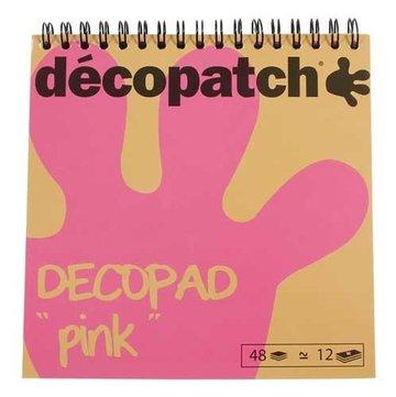 Decopad spiraalblok papier roze