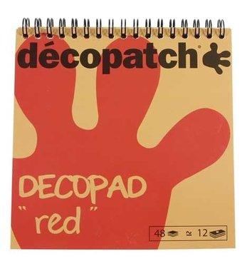 Decopad spiraalblok papier rood
