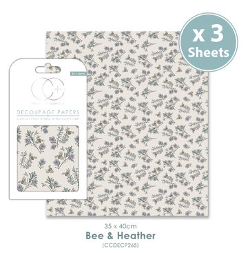 Decoupage papier Bee & Heather - Craft Consortium