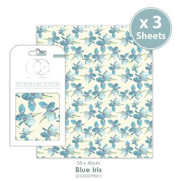 Decoupage papier Blue Iris - Craft Consortium