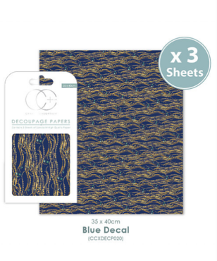 Decoupage papier Blue Decal - Craft Consortium