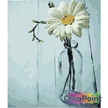 Schilderen op nummer Gerbera op vaas 40 x 50 cm zonder frame