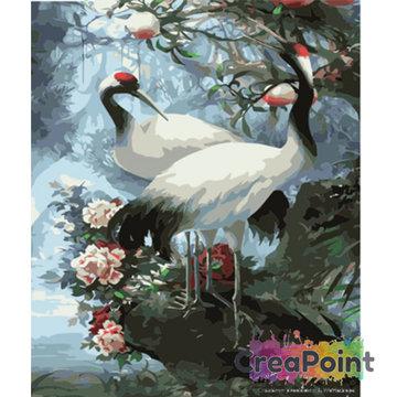Schilderen op nummer Chinese kraanvogels 40 x 50 cm zonder frame