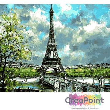 Schilderen op nummer Eiffeltoren  50 x 40 cm zonder frame