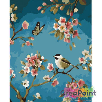 Schilderen op nummer bloementak 3 40 x 50 cm zonder frame