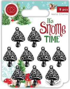 It's snome time Metal charms Paddestoel - Craft Consortium